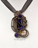 Dichroic steampunk pendant 2 by ukapala