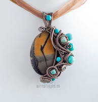 Lake in a Forest Pendant by ukapala