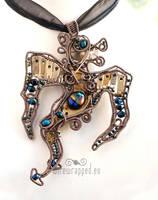 Steampunk dragon pendant by ukapala