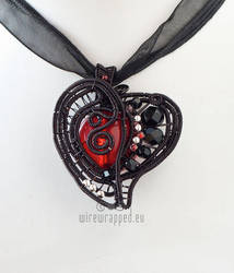 Asymmetric heart pendant by ukapala