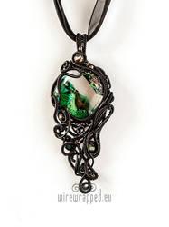 Dichroic Gothic Pendant by ukapala