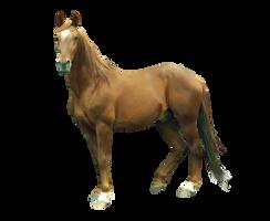 Chestnut Horse Precut by 11amypond