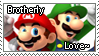 [Comm.] Mario and Luigi Brotherly Love Stamp by TheKitsuneAlchemist