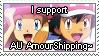 [Comm.] AU AmourShipping Stamp by TheKitsuneAlchemist