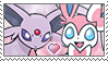 [Comm.] Espeon X Sylveon Stamp by TheKitsuneAlchemist
