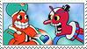 [Comm.] Djimmi the Great X Beppi the Clown Stamp by TheKitsuneAlchemist
