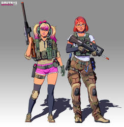 Tacticool Peach and Joelle by Dmitrys