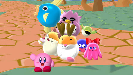 [MMD] Kirb and his buddies by BronyKAL9278REBOOT