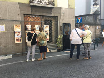 Exhibition on the street in the historical centre by lucianoblini
