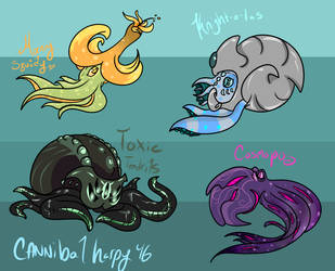 Cephalocuties 2 (Closed) by CannibalHarpy