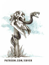 Grave Snake by ebver