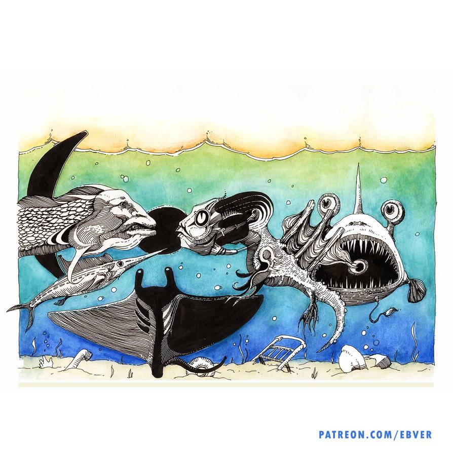 Strange dispute of strange Fish by ebver