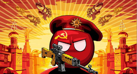 #polandball  Soviet Union from Red Alert 3 by SevonianBall
