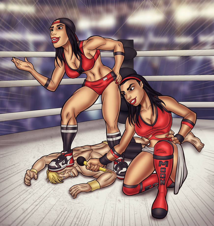 Bella Twins in action 2 by rag-man