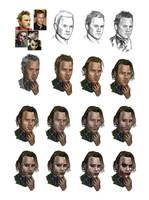 Heath Ledger into Joker by DeletedSeen
