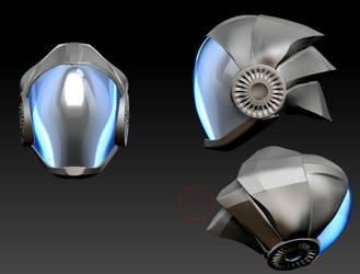 Scifi helmet by forgotten-wings
