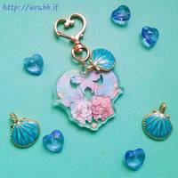 mermimi keychain by thewrabbithole