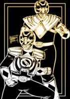 Mighty Black Rangers by OptimusPraino