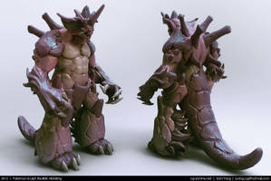 Pokemon Sculpt: Realistic Nidoking 2013 by cg-sammu
