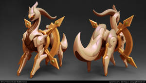 Pokemon Sculpt: Realistic Arceus 2013 by cg-sammu
