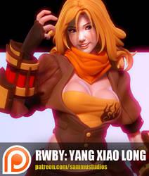RWBY: Yang Xiao Long by cg-sammu