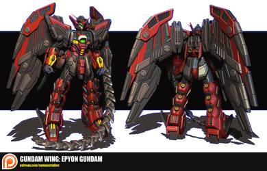Gundam Wing: Epyon Gundam by cg-sammu