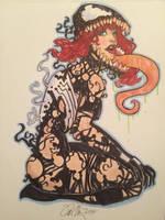 MJ engulfed by Venom Symbiote by Rvalenzuela80