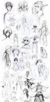 Random school sketches by Uzlo