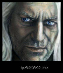 Lucius Malfoy Pastel Drawing 3 by AStoKo