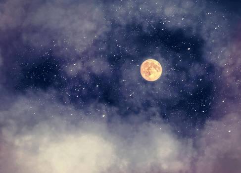 Nightsky moon a S T O C K by AStoKo by AStoKo