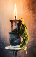 Emotion Candle light ~ digital draw by AStoKo