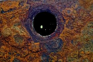 Hole in rusty metal 01 by AStoKo