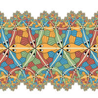 M.C.Escher Circle Limit III - fractal projection by Vladimir-Bulatov