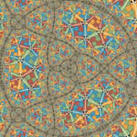 Circle Limit III in self similar fractal by Vladimir-Bulatov