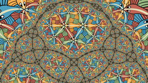 Fractal Circle Limit III animation by Vladimir-Bulatov