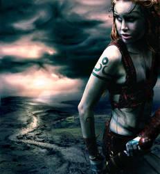 Desolate Huntress by LadyLuciolaLupus