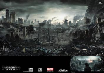 Wolverine :: apocalypse city by JJasso