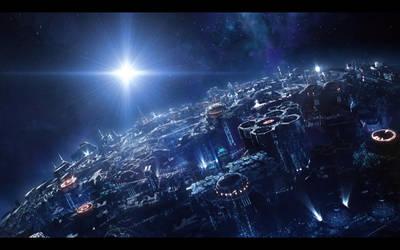 Cybertron establishing shot by JJasso