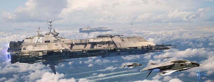 Explorer Navy Ship by JJasso