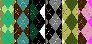Argyle Pattern Set by arsgrafik