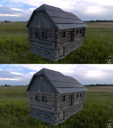 Wooden rural house  lowpoly by chrbet