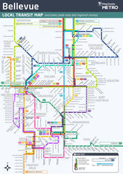 Bellevue Bus Routes Map by Murakumon