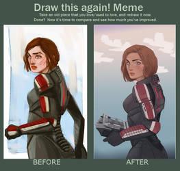 Draw This Again Meme by auraelauste