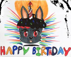 Lycaon Birthday Cake Eemote by MoonlightStrider