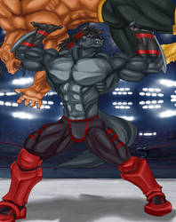 Mike in the Ring by DieHard300 by MoonlightStrider