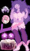 Steven Universe Fan fusion: Lepidolite by Pancake222