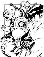 Chibi Avengers Assemble by PhillieCheesie
