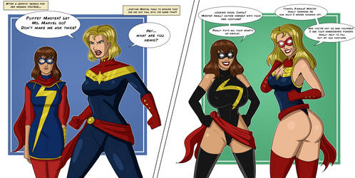 Captain Marvel/Ms. Marvel Makeover by PolManning
