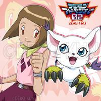 Best Partners - Hikari and Tailmon by Deko-kun