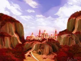 Glinda's palace by ginovanta